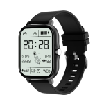 GT20 1.69 inch TFT Screen IP67 Waterproof Smart Watch, Support Music Control / Bluetooth Call / Heart Rate Monitoring / Blood Pressure Monitoring, Style:Silicone Strap(Black)