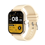 GT20 1.69 inch TFT Screen IP67 Waterproof Smart Watch, Support Music Control / Bluetooth Call / Heart Rate Monitoring / Blood Pressure Monitoring, Style:Silicone Strap(Gold)