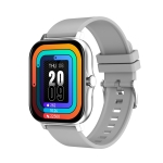 GT20 1.69 inch TFT Screen IP67 Waterproof Smart Watch, Support Music Control / Bluetooth Call / Heart Rate Monitoring / Blood Pressure Monitoring, Style:Silicone Strap(Silver)