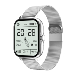 GT20 1.69 inch TFT Screen IP67 Waterproof Smart Watch, Support Music Control / Bluetooth Call / Heart Rate Monitoring / Blood Pressure Monitoring, Style:Steel Strap(Silver)