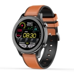 MT18 1.28 inch HD Color Screen IP67 Waterproof Smart Watch, Support Women Physical Health Management / Bluetooth Call / Heart Rate Monitoring, Style: Leather Strap(Brown)