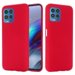 For Motorola Moto G100 / Edge S Solid Color Liquid Silicone Dropproof Full Coverage Protective Case(Red)