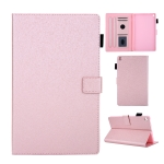 Hair Silky Texture Solid Color Horizontal Flip Leather Case with Holder & Card Slots & Photo Frame & Anti-Skid Strip For Amazon Kindle Fire HD8 2016 / 2017 / 2018(Rose Gold)