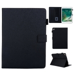Hair Silky Texture Solid Color Horizontal Flip Leather Case with Holder & Card Slots & Photo Frame & Anti-Skid Strip For iPad 10.2 (2020) / (2019)(Black)