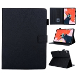 Hair Silky Texture Solid Color Horizontal Flip Leather Case with Holder & Card Slots & Photo Frame & Anti-Skid Strip For iPad Pro 11 inch(Black)