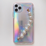 Laser TPU Protective Case with Pearl Bracelet For iPhone 11 Pro Max