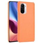 For Xiaomi Redmi K40 / K40 Pro / Poco F3 Shockproof Crocodile Texture PC + PU Case(Orange)