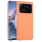 For Xiaomi Mi 11 Ultra Shockproof Crocodile Texture PC + PU Case(Orange)