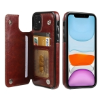 FLOVEME Crazy Horse Texture Horizontal Flip Leather Protective Case with Card Slots & Holder For iPhone 11(Brown)