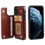 FLOVEME Crazy Horse Texture Horizontal Flip Leather Protective Case with Card Slots & Holder For iPhone 11 Pro(Brown)