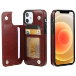 FLOVEME Crazy Horse Texture Horizontal Flip Leather Protective Case with Card Slots & Holder For iPhone 12 / 12 Pro(Brown)