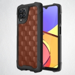 For Samsung Galaxy A12 5G 3D Embossed PU + PC + TPU Skidproof Shockproof Case(Brown)
