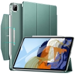 ESR Ascend Trifold with Clasp Series PC + PU Leather Horizontal Flip Leather Case with Holder & Pen Slot & Sleep / Wake Up Function For iPad Pro 11 (2021)(Forest Green)
