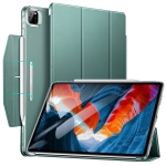 ESR Ascend Trifold with Clasp Series PC + PU Leather Horizontal Flip Leather Case with Holder & Pen Slot & Sleep / Wake Up Function For iPad Pro 12.9 (2021)(Forest Green)