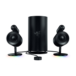 Razer Nommo Pro Wired and Bluetooth Full Frequency 2.1 Multimedia Computer Game Speakers (Black)