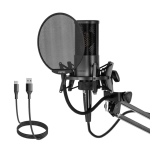 Yanmai X2 Active Noise Reduction Cardioid Pointing Capacitive Recording Microphone Set with Blowout Net & Cantilever Bracket & 1.7m 3.5mm Interface Cable