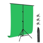 PULUZ 1x2m T-Shape Photo Studio Background Support Stand Backdrop Crossbar Bracket Kit with Clips (Green)