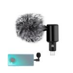 PULUZ P3 USB-C / Type-C Jack Mobile Phone Omnidirectional Condenser Adjustable Microphone(Black)