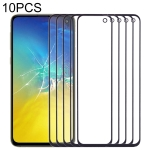 10 PCS Front Screen Outer Glass Lens for Samsung Galaxy S10e SM-G970F/DS, SM-G970U, SM-G970W (Black)