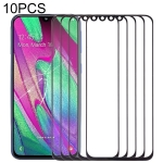 10 PCS Front Screen Outer Glass Lens for Samsung Galaxy A40 (Black)