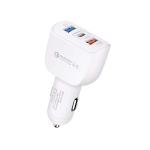 YSY-386 35W QC3.0 USB + USB 2.0 + USB-C / Type-C Multi-port Car Charger White