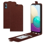 For Samsung Galaxy A02 R64 Texture Single Vertical Flip Leather Protective Case with Card Slots & Photo Frame(Brown)