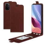 For Xiaomi Redmi K40 / K40 Pro / Poco F3 / Mi 11i R64 Texture Single Vertical Flip Leather Protective Case with Card Slots & Photo Frame(Brown)