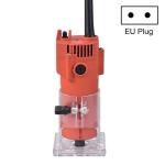 Woodworking Trimming Machine Multifunctional Electric Wood Milling Slotting Machine Engraving Tools EU Plug, Material:600W Plastic Body