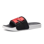Men Fashion Outdoor Slippers Antiskid Soft Sole Beach Shoes, Size: 44-45(Black Red)