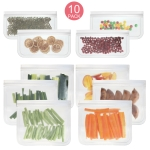 10 in 1 Translucent Frosted PEVA Food Preservation Bag Refrigerator Food Storage Bag Self-Sealing Food Bag Set(NO.1×6+NO.2×4)