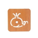 20 PCS Wooden Insulation Pad Mesh Pad Kitchen Hollow Dish Pan Cushion Small Coaster (Whale)