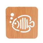 20 PCS Wooden Insulation Pad Mesh Pad Kitchen Hollow Dish Pan Cushion Large Placemat (Bubble Fish)