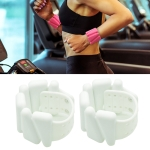 1 Pair Yoga Fitness Detachable Weight-Bearing Bracelets Sports Weight-Bearing Silicone Wrist Bands, Specification: 900G(White)