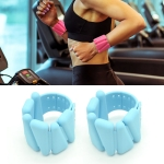 1 Pair Yoga Fitness Detachable Weight-Bearing Bracelets Sports Weight-Bearing Silicone Wrist Bands, Specification: 900G (Blue)