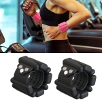 1 Pair Yoga Fitness Detachable Weight-Bearing Bracelets Sports Weight-Bearing Silicone Wrist Bands, Specification: 1800G (Black)