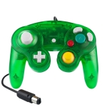 5 PCS Single Point Vibrating Controller Wired Game Controller For Nintendo NGC(Transparent  Green)