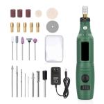 Mini Electrical Engraving Pen Cutting And Polishing Electrical Grinder Tool Set, US Plug(Green)