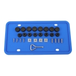 2 Sets Waterproof Rustproof Non-damaging Car Paint Silicone License Plate Frame, Specification: Blue