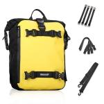 Rhinowalk Multi-Function Motorcycle Rear Seat Bag Combination Rear Shelf Pannier, Colour: Yellow 10L