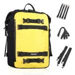 Rhinowalk Multi-Function Motorcycle Rear Seat Bag Combination Rear Shelf Pannier, Colour: Yellow 20L