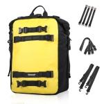 Rhinowalk Multi-Function Motorcycle Rear Seat Bag Combination Rear Shelf Pannier, Colour: Yellow 30L