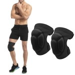 2 Pairs HX-0211 Anti-Collision Sponge Knee Pads Volleyball Football Dance Roller Skating Protective Gear, Specification: L (Black)