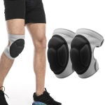 2 Pairs HX-0211 Anti-Collision Sponge Knee Pads Volleyball Football Dance Roller Skating Protective Gear, Specification: M (Gray)