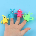 20 PCS Mini Finger Doll TPR Soft Rubber Monster Finger Cover Toys, Random Color and Style Delivery