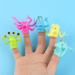 25 PCS TPR Finger Doll Small Monster Soft Rubber Finger Puppet Toys, Random Color And Style Delivery