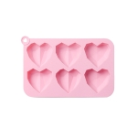 2 PCS Three-Dimensional Love Silicone Cake Baking Mold DIY Popsicle Mold(Pink)