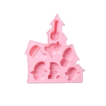 2 PCS Halloween Style Silicone Popsicle Mold DIY Cake Baking Appliance Handmade Soap Mold(Pink)