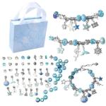 63 In 1 Children DIY Crystal Vintage Bracelets(Blue )