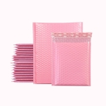 100 PCS Pink Co-Extrusion Film Bubble Bag Logistics Packaging Thickened Packaging Bag Size: 13x15cm