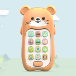 2 PCS Baby Early Education Chinese-English Bilingual Multifunctional Telephone Toy, Colour: Yellow Mouse